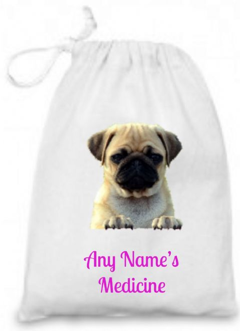 Pug/Puppy Medicine/Inhaler Bag
